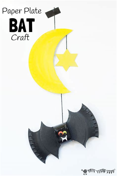 Paper Plate Bat Craft - paper plate bat craft and mobile craft room