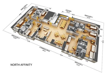 District House Affinity Floor Plan - stay groups building 2 affinity units