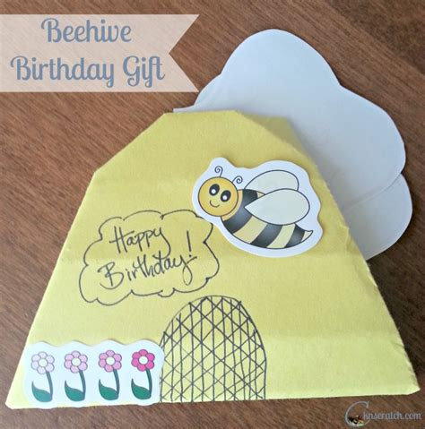 Origami Birthday Present - bee utiful origami beehive birthday present chicken
