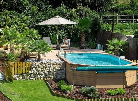 above ground pool in small backyard outstanding above ground swimming pool landscaping cool