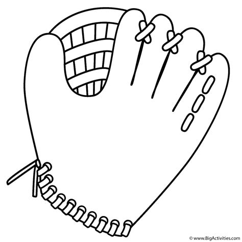 baseball glove coloring page father s day