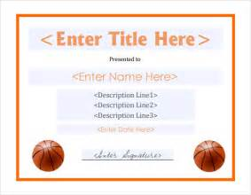 basketball certificate templates download free documents pdf certificates