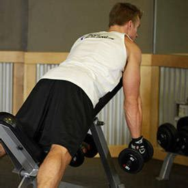 incline bench shrugs middle back shrug exercise guide and video