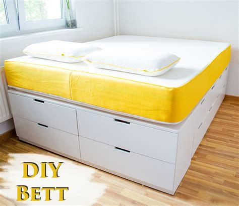 Ikea Bett Kommode by Diy Ikea Hack Plattform Bett Selber Bauen Aus Ikea