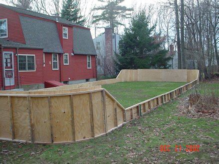 backyard rink boards chris eitel s backyard rink howard s corner of the web
