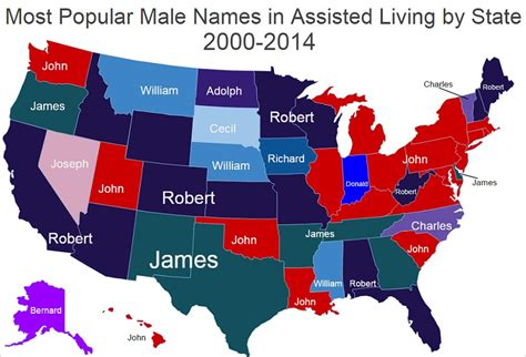 top names most popular names in assisted living