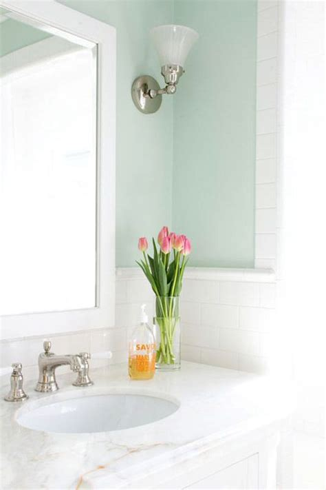 Bright Bathroom Colors by Bathroom With Clean Bright Colors Subway Tile Large