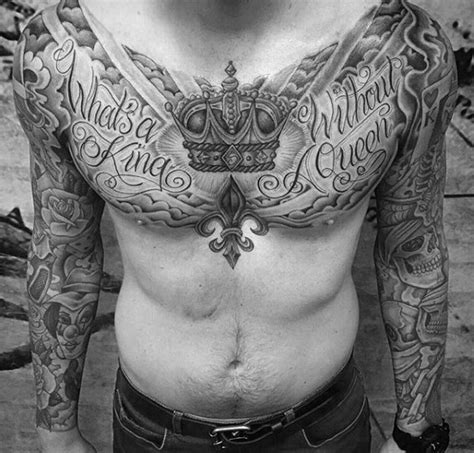 chest tattoo ideas for black men 67 most powerful crown tattoos for