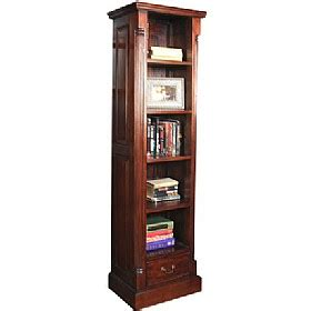 narrow mahogany bookcase argento solid mahogany narrow bookcase argento solid