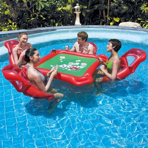 floating table for pool 2018 waterpark mahjong table set floating