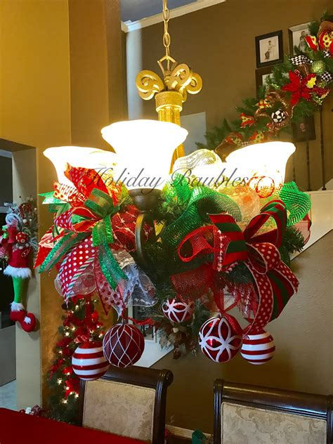 chandelier garland  holiday baubles christmas