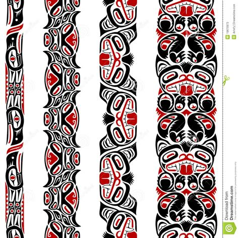 haida style seamless pattern stock photos image 19670973