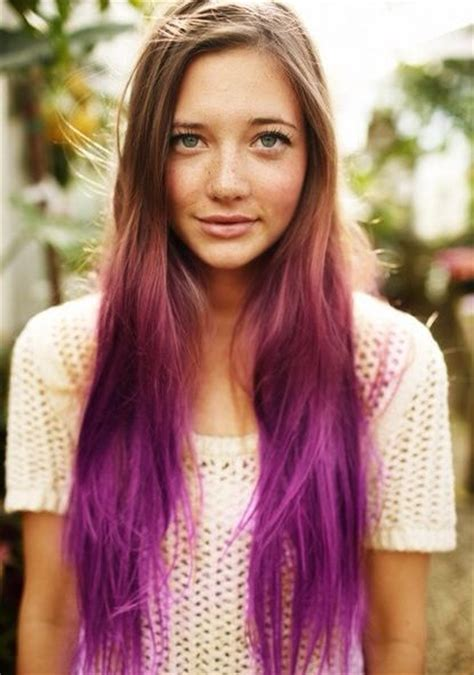 tri colored ombre hair looks we trends extensions and ombre purple hair