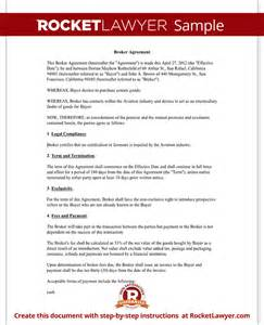 business broker agreement template broker agreement contract fees business sle