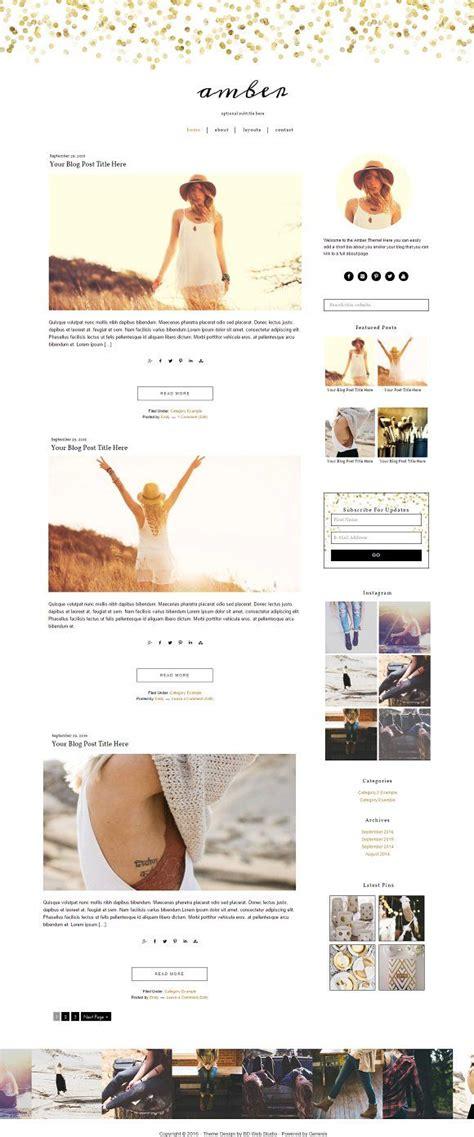 blog theme pinterest feminine gold wordpress theme by bd web studio on