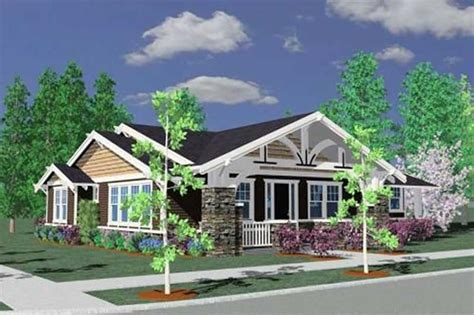 one level craftsman house plans craftsman prairie shingle bungalow house plans home design m 1793gl 16645