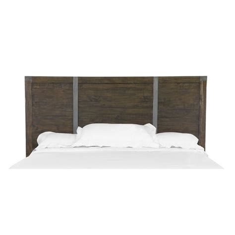 magnussen pine hill queen panel bed headboard in rustic