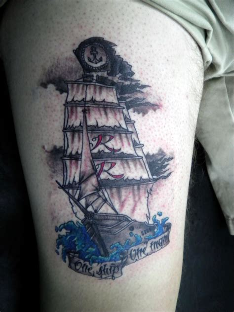 traditional pirate ship tattoo traditional pirate ship drawing