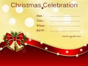 christmas invite cards festival tech com
