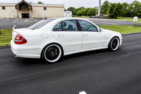 mercedes white mercedes benz w211 e55 amg white on black benztuning
