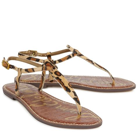 sam edelman leopard sandals sam edelman gigi leopard print calf hair sandals in animal