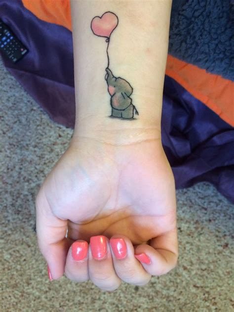 cute relationship tattoos this adorably elephant symbolizes childhood