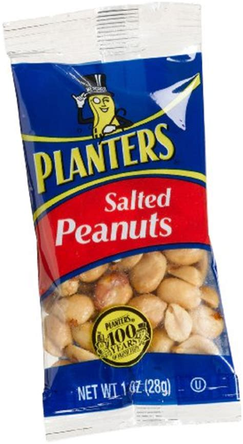 Planters Peanuts Headquarters by Planters Peanuts Salted 1 Ounce Single Serve Bag Pack
