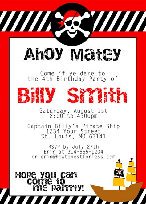 Nest Home Decor by Pirate Themed Birthday Party With Free Printables How To