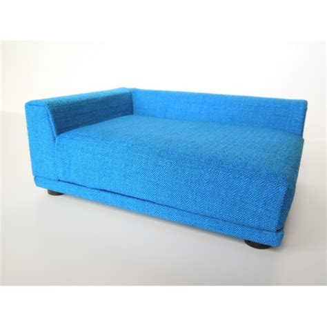 Uno Sofa by Modern Dollhouse Furniture M112 Pods Uno Sofa In Blue