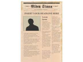 Publisher Newspaper Templates by Editable Newspaper Template Portrait