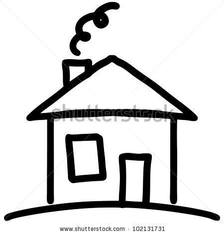 small cartoon house illustration shows done style isolated house drawing stock images royalty free images vectors