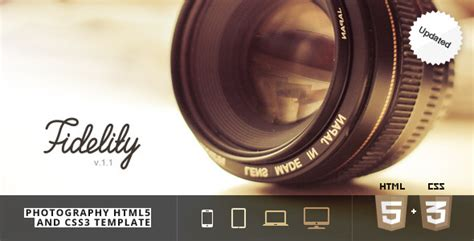 Themeforest Photography | fidelity photography html5 css3 template by fireform