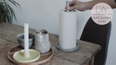 How To Make Paper Towel - how to make a paper towel holder by s 248 strene grene diy