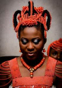 Images of women adorned in traditional nigerian engagement coral beads