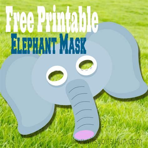 printable animal masks elephant free printable elephant mask template mask template