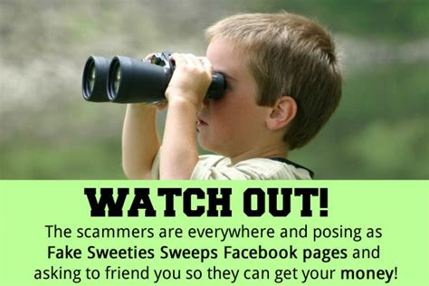 Sweeties Sweepstakes - how to protect yourself from sweepstakes scammers those posing as sweeties sweeps