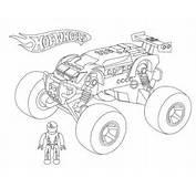 Hot Wheels Monster Car Coloring Page  NetArt