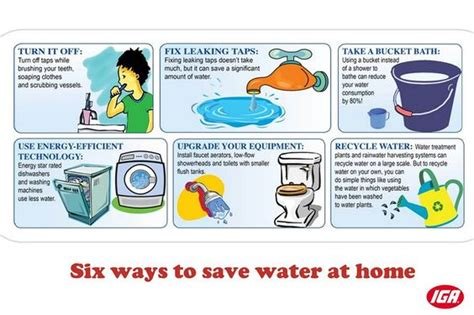 ways to save water save water and ways to save on