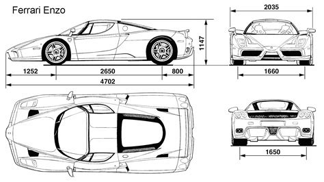Ferrari Enzo Blueprint Download Free Blueprint For 3d
