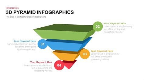 3d pyramid infographics powerpoint and keynote template
