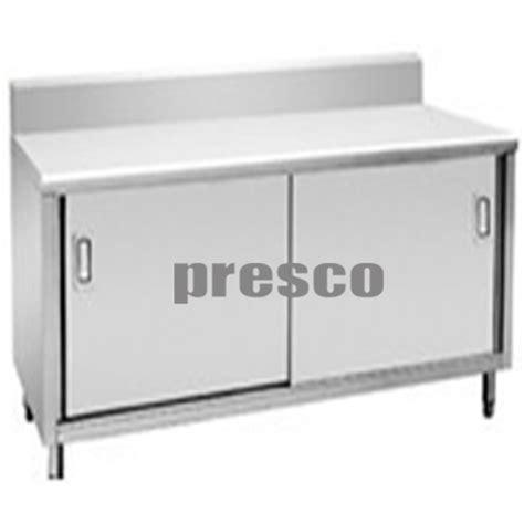 Lemari Stainless Steel meja kompor dengan lemari smk 50 baja manufaktur