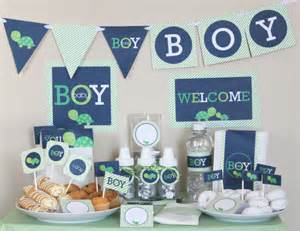 baby shower decoration packages boy turtle baby shower decorations printable package