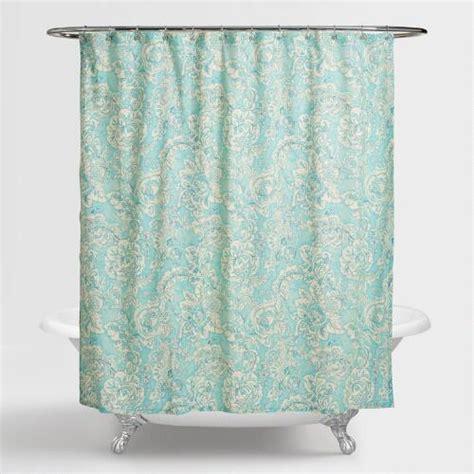 curtains adelaide aqua floral adelaide shower curtain world market