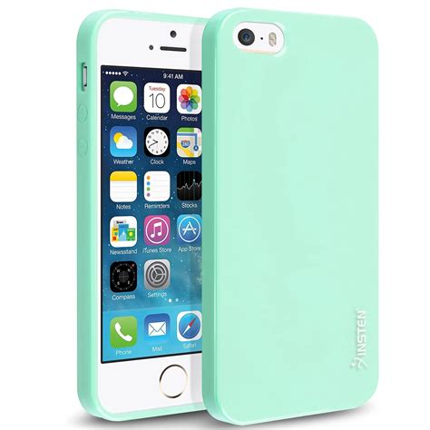 Jelly Iphone 5 Mint Green insten tpu rubber skin for apple iphone 5 5s se