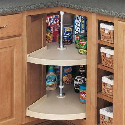 lazy susan kitchen cabinets rev a shelf traditional quot door mount pie cut 2 shelf