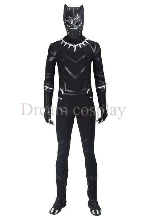 Kaos Civil War Spandex All Size Black 2016 captain america civil war black panther costume spandex fullbody and