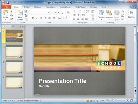 Powerpoint Presentation Templates For Teachers Free School Powerpoint Templates