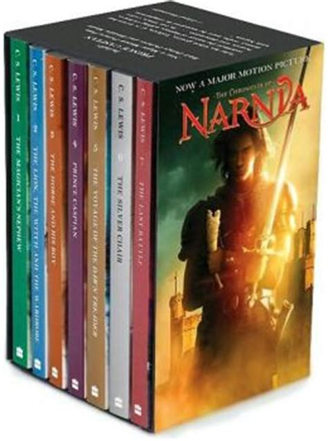 narnia film box set the chronicles of narnia movie tie in boxed set by c s