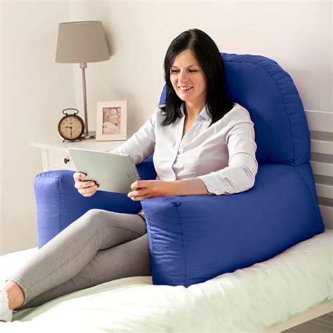 bed armrest pillow chloe bed reading bean bag cushion arm rest back support