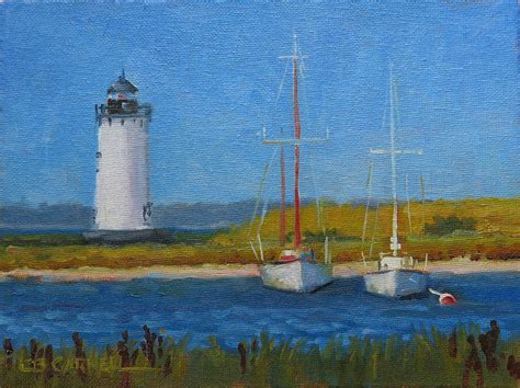 Chappaquiddick Lighthouse Tour Edgartown Lighthouse Painting By Beadon Carnell